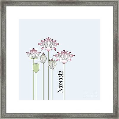 Pink Lotus Flowers Framed Print by Wind-Up Sprout Design