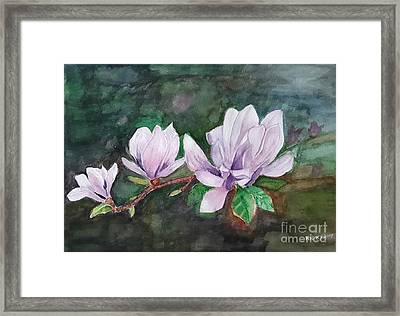Pink Magnolia - Painting Framed Print