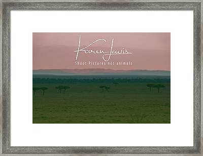Framed Print featuring the photograph Pink Mara Dawn by Karen Lewis