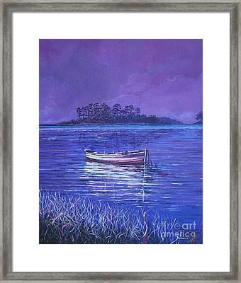 Pink Marsh Framed Print by Sinisa Saratlic