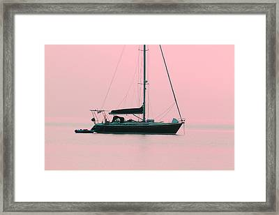 Framed Print featuring the photograph Pink Mediterranean by Richard Patmore