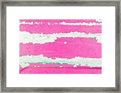 Pink Metal Background Framed Print