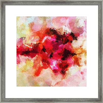 Pink Minimalist Abstract Painting Framed Print by Ayse Deniz