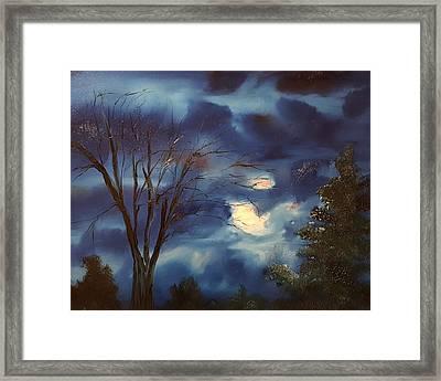 Pink Moon      19 Framed Print