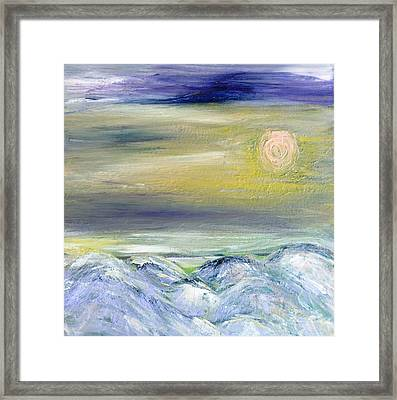 Pink Moon Framed Print by Amy Drago