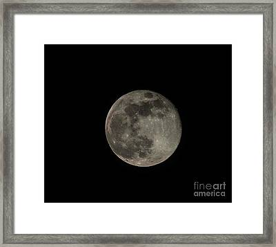 Framed Print featuring the photograph Pink Moon by David Bearden