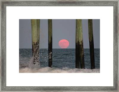 Pink Moon Rising Framed Print