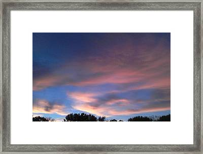 Pink Morning Clouds Framed Print by Don Koester