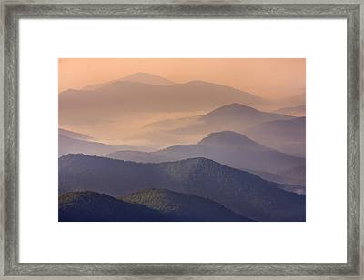 Framed Print featuring the photograph Pink Mountain Layers by Ken Barrett