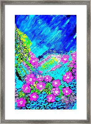 Pink N Blue Framed Print by Piety Dsilva