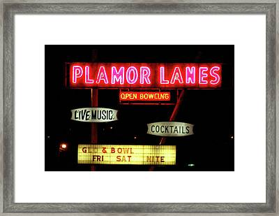 Pink Neon Framed Print by Jame Hayes