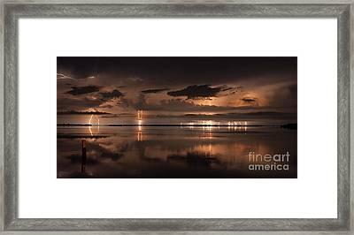 Amber Nights Framed Print