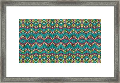 Pink O As Pattern Framed Print by Modern Metro Patterns and Textiles