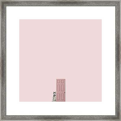 Pink On The Pink Framed Print by Caterina Theoharidou