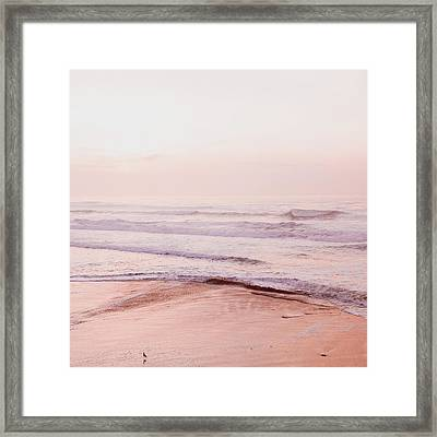 Framed Print featuring the photograph Pink Pacific Beach by Bonnie Bruno