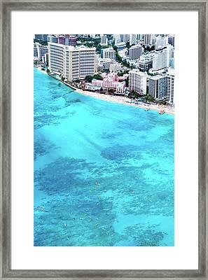 Pink Palace - Waikiki Framed Print by Sean Davey