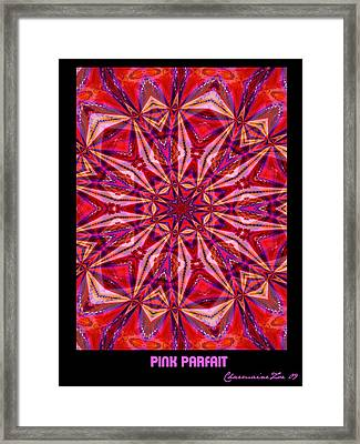 Pink Parfait Framed Print by Charmaine Zoe