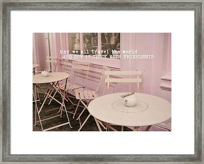 Pink Party Cakes Quote Framed Print by JAMART Photography
