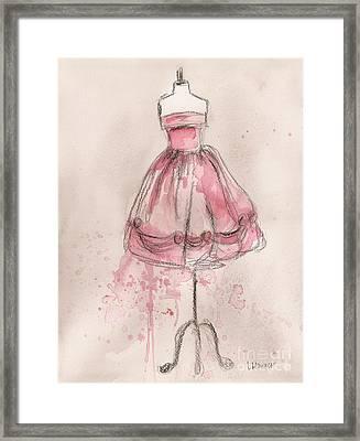 Pink Party Dress Framed Print by Lauren Maurer