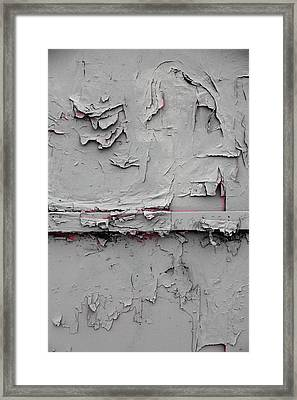 Pink Peeking Through Framed Print by Kreddible Trout