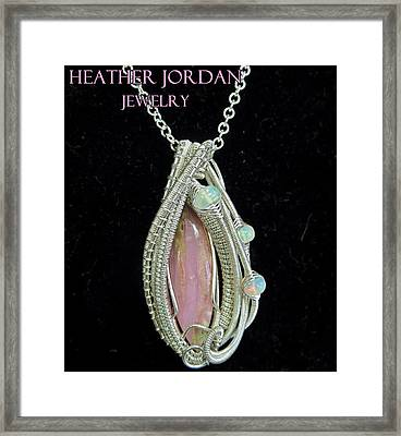 Pink Peruvian Opal Pendant In Sterling Silver With Ethiopian Welo Opals Pposs3 Framed Print
