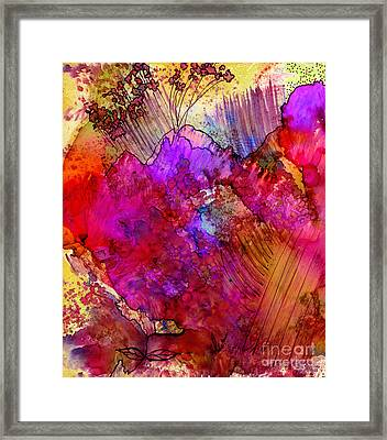 Pink Petals II Framed Print by Angela L Walker