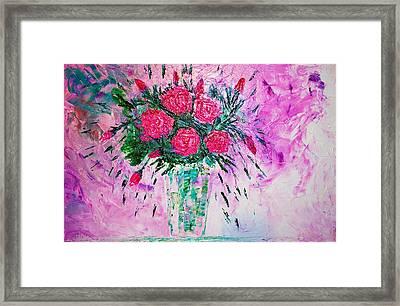 Pink Framed Print by Piety Dsilva