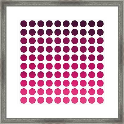 Pink Polka Dots Framed Print by Art Spectrum