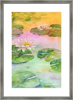 Pink Pond Framed Print by Amy Kirkpatrick