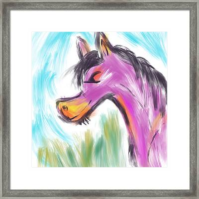 Framed Print featuring the digital art Pink Pony by Marti McGinnis