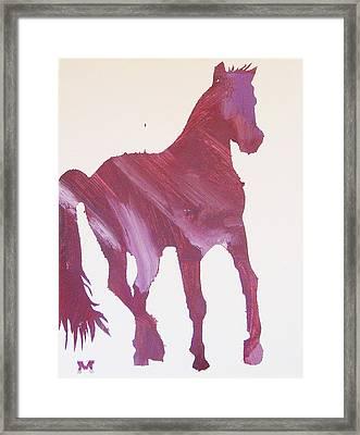Pink Pony Framed Print