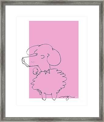 Pink Poodle Framed Print