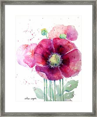 Pink Poppies Framed Print by Arline Wagner