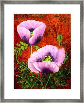 Pink Poppies Framed Print by Lynn Lawson Pajunen