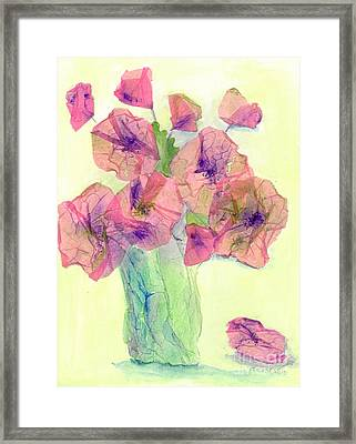 Pink Poppies Framed Print by Veronica Rickard