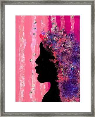 Pink Profile Framed Print