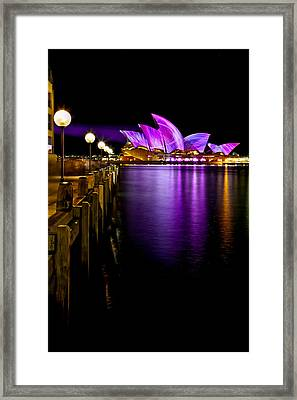 Pink Projections Framed Print by Az Jackson