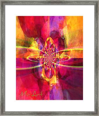 Pink Purple And Yellow Framed Print