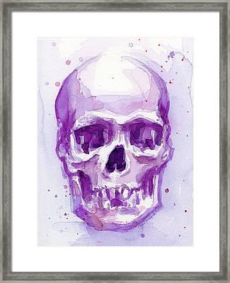Pink Purple Skull Framed Print