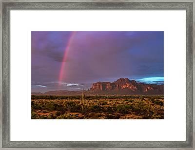 Pink Rainbow  Framed Print