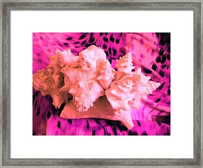 Pink Ribbon Donation Framed Print by Arlin Jules