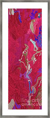 Pink Rice Paddy Fields In China Framed Print by Christine Dekkers