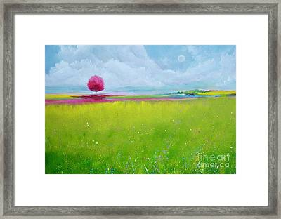 Pink Roble Far Away Framed Print