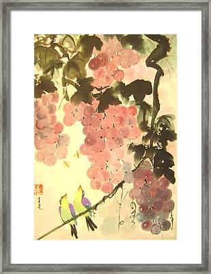Pink Romance Framed Print by Lian Zhen
