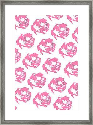 Pink Roses Framed Print by Cortney Herron