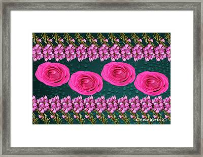 Pink Roses Floral Display Framed Print