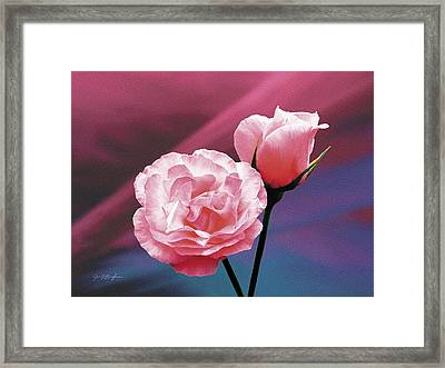 Pink Roses Framed Print by Jan Baughman
