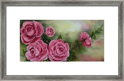 Pink Roses Framed Print by Joni McPherson