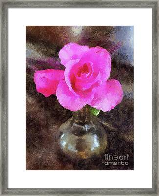 Pink Rozalea Framed Print