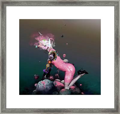 Pink Rubbergum Framed Print